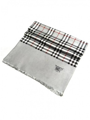 Burberry Silver Silk Scarves