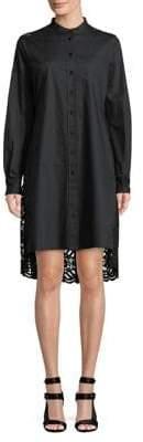 Diane von Furstenberg Lace Back Cotton Shirtdress