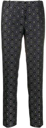 Kiltie all-over pattern trousers