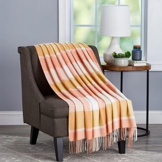 Super Soft Oversized Vintage Style Plaid Throw Blanket by Somerset Home (Desert Blush Plaid)