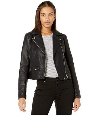 Cupcakes And Cashmere Ines Vegan Textured Leather Moto Jacket