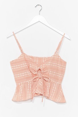 Nasty Gal Womens Check Please Ruched Cami Top - Peach