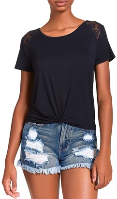 Steve Madden Knotted Tee Black