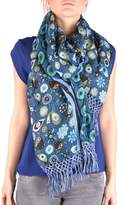 Altea Women's Blue Linen Scarf.