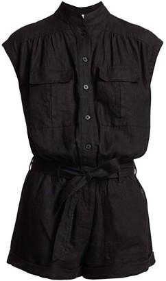 Frame Linen Button-Up Romper