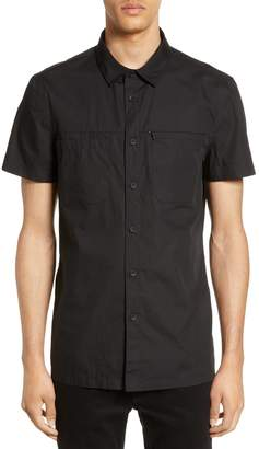 Riverstone Slim Fit Solid Short Sleeve Button-Up Sport Shirt