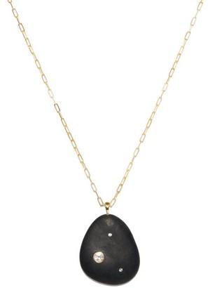 Cvc Stones Ember Diamond & 18kt Gold Pendant Necklace - Black
