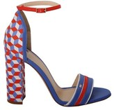 Elisabetta Franchi Women's Multicolor Leather Sandals.