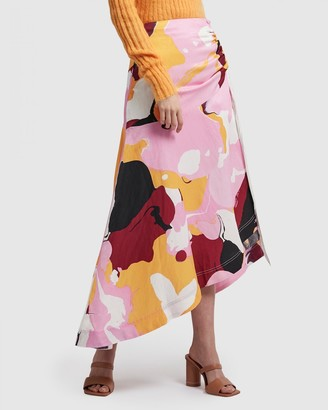Aje Psychedelia Waterfall Midi Skirt