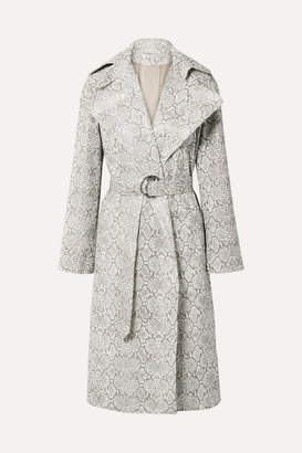 Georgia Alice Snake-effect Faux Leather Trench Coat - Snake print