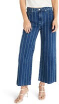 Thumbnail for your product : ÉTICA Devon Striped High Waist Wide Leg Jeans