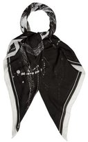 Balmain Abstract Print Scarf