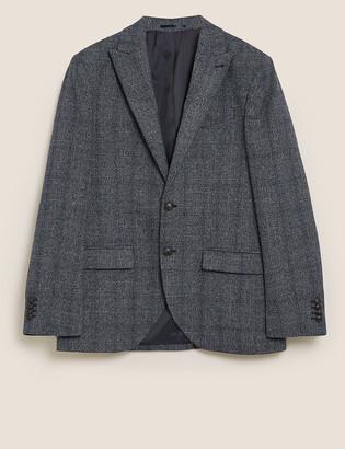 Marks and Spencer Big & Tall Regular Fit Check Blazer