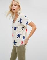 Maison Scotch Star Print T-Shirt