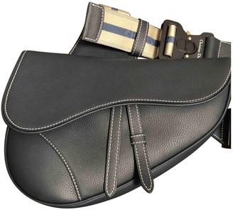 Christian Dior Saddle Blue Leather Bags