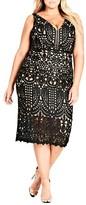 City Chic Plus Size Women's All Class Lace Sheath Dress