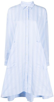 Henrik Vibskov Striped Asymmetric Hem Shirt Dress