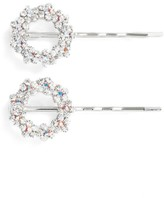 Tasha Set Of 2 Crystal Flower Wreath Bobby Pins
