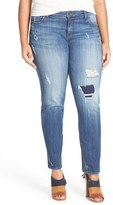 KUT from the Kloth Plus Size Women's Distressed Slouchy Boyfriend Jeans