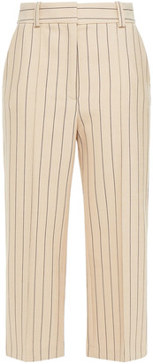 See by Chloe Cropped Pinstriped Crepe Straight-leg Pants
