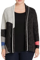 NIC and ZOE Plus Charged Up Color Block Cardigan