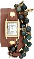 La Mer Women's LMMULTI2006 Thai Charm Wrap Watch