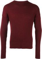Ami Alexandre Mattiussi oversize crew neck sweater - men - Wool - XS