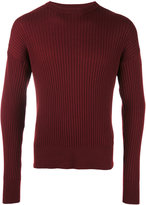 Ami Alexandre Mattiussi oversized crew neck sweater - men - Wool - XS
