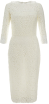 Goat Venus Cream Lace Pencil Dress