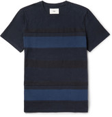 Folk - Slim-fit Striped Cotton-jersey T-shirt