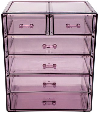 Sorbus Purple Makeup & Jewelry Storage Case Display
