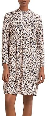 Gerard Darel Thiane Floral Print Crepe Dress