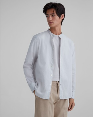 Club Monaco Band Collar Textured Shirt
