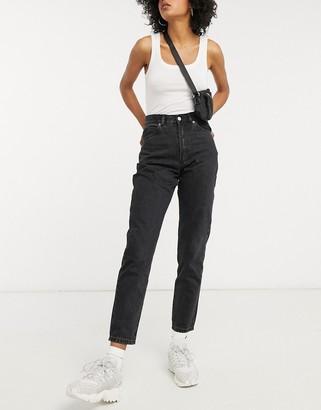Dr. Denim Nora high rise mom jeans in black