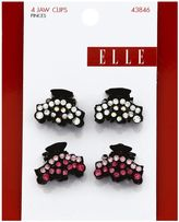 Elle 4-Pack Mini Rhinestone Jaw Clip