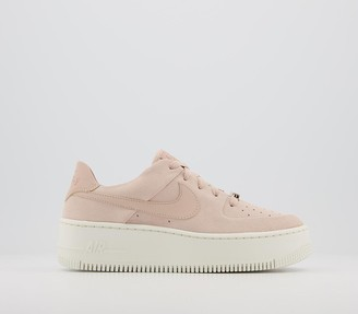 Nike Force 1 Sage Trainers Particle Beige Phantom
