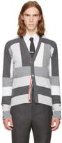 Thom Browne Grey Saddle Sleeve V-Neck Cardigan