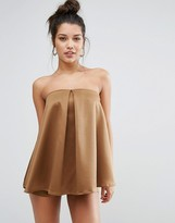 Missguided Silky Double Layer Romper