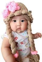 Kids Fashionista Disney Princess Rapunzel knit baby girl hat wig with braid