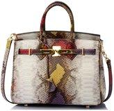 Tibes Genuine Leather Serpentine Bags Lady Shoulder Messenger Bags Casual Tote Bag Hobos Handbag