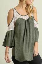 Umgee USA Lace Detail Top