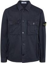 Stone Island Navy Cotton Overshirt