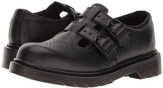 Dr. Martens Kid's Collection 8065 Mary Jane (Little Kid/Big Kid) (Black T Lamper) Girls Shoes