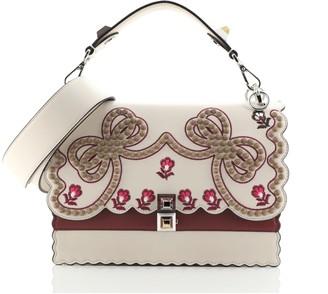 Fendi Kan I Bag Embroidered Studded Leather Medium