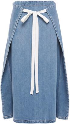 MM6 MAISON MARGIELA Wrap-effect Denim Midi Skirt