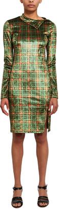 Callipygian Stretch Plaid Dress