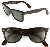 Ray-Ban Women's 'Classic Wayfarer' 50Mm Polarized Sunglasses - Black Polarized