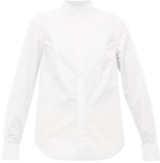 Wardrobe NYC Release 05 Band-collar Cotton-poplin Shirt - White