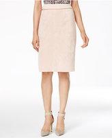 Calvin Klein Faux-Suede Pencil Skirt