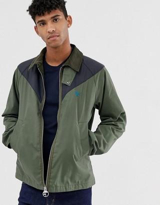 Barbour Beacon Broad color block wax jacket in green